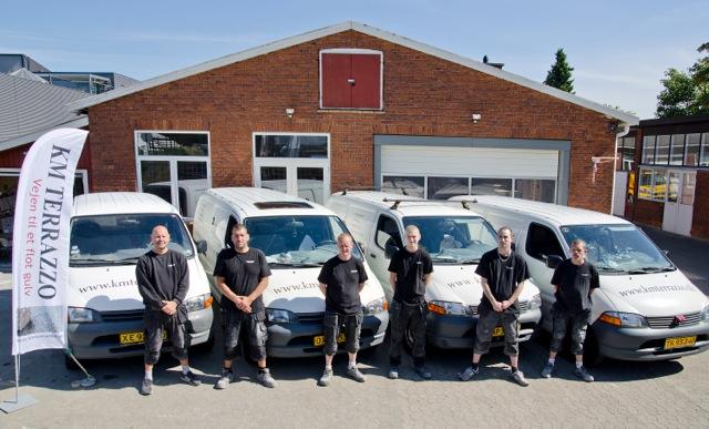 Billede af medarbejderne hos Københavns Terrazzo ApS